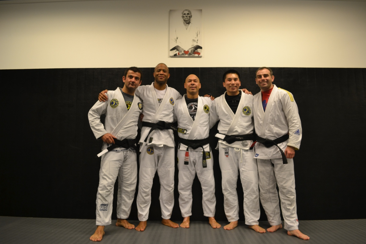 3 New Black belts at the Academy Hq